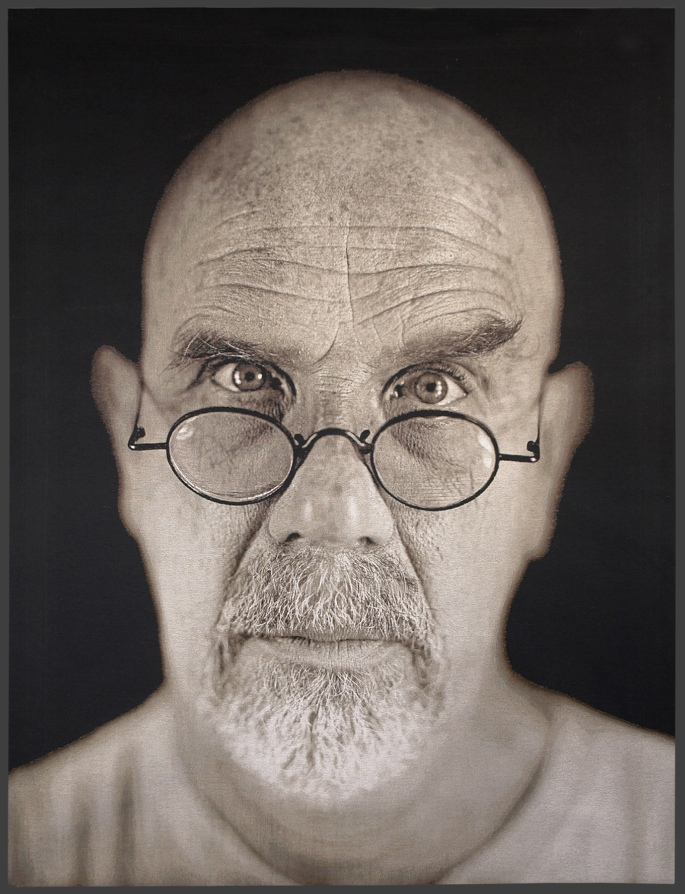 chuck close Artist chuck close starts with the 19th-century daguerreotype process to create  stunning, large-format digital prints of fellow artists, poets and world-renowned.