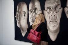 Chuck Close at Pace Gallery, 2009 by Yosra El-Essawy